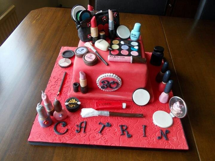 Makeup Birthday Cake Ideas : Cool makeup cake Birthday Cake Ideas Pinterest