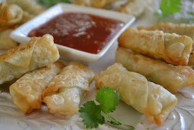 Mini shrimp rolls with plum sauce | Yum! | Pinterest