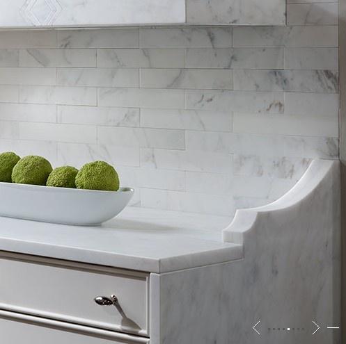 tile backsplash edge detail cabinets pinterest