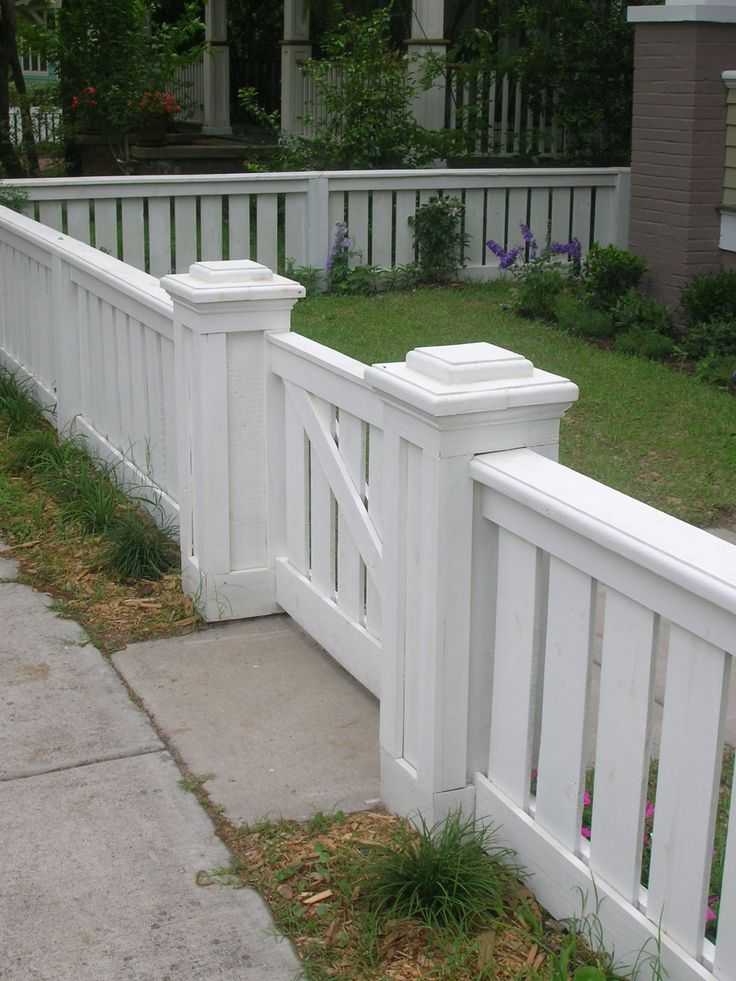 Craftsman Fence For The Home Pinterest