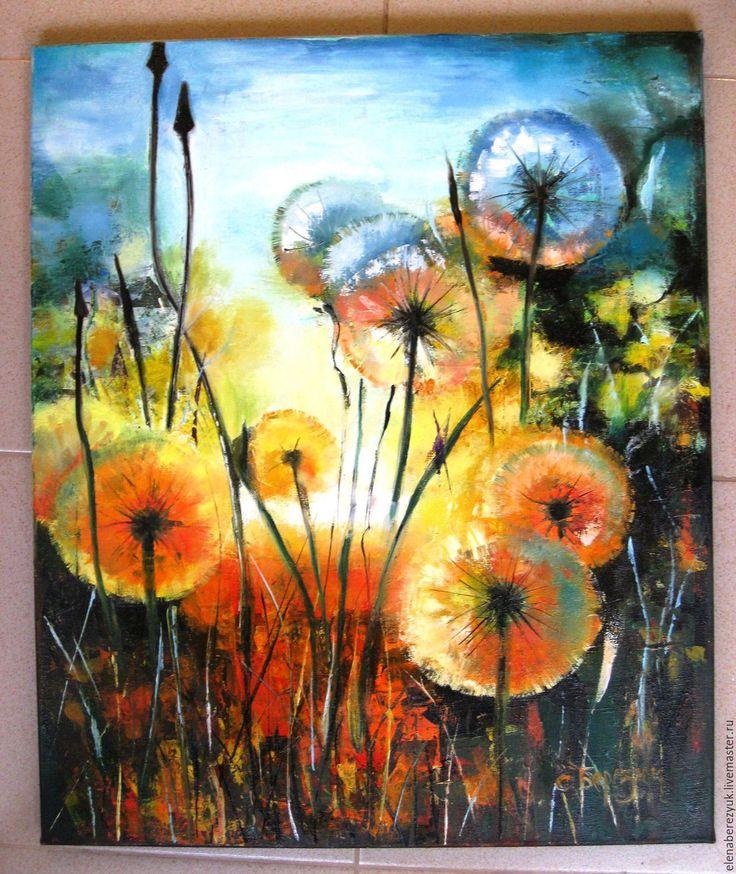 Рисунки маслом цветов на холсте