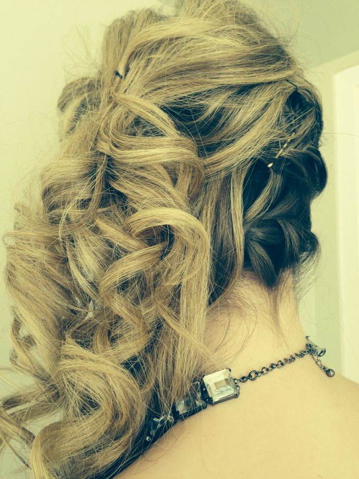 Side updo with braids and curls   Prom   Pinterest