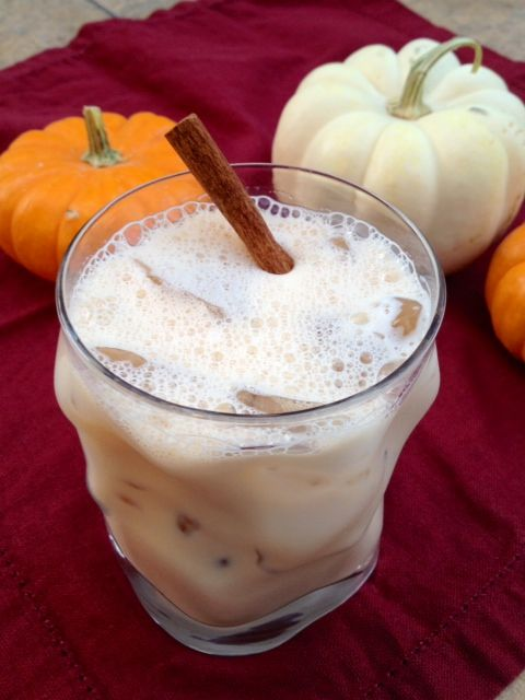 Perfect drink for fall with spiced rum and pumpkin pie liqueur.