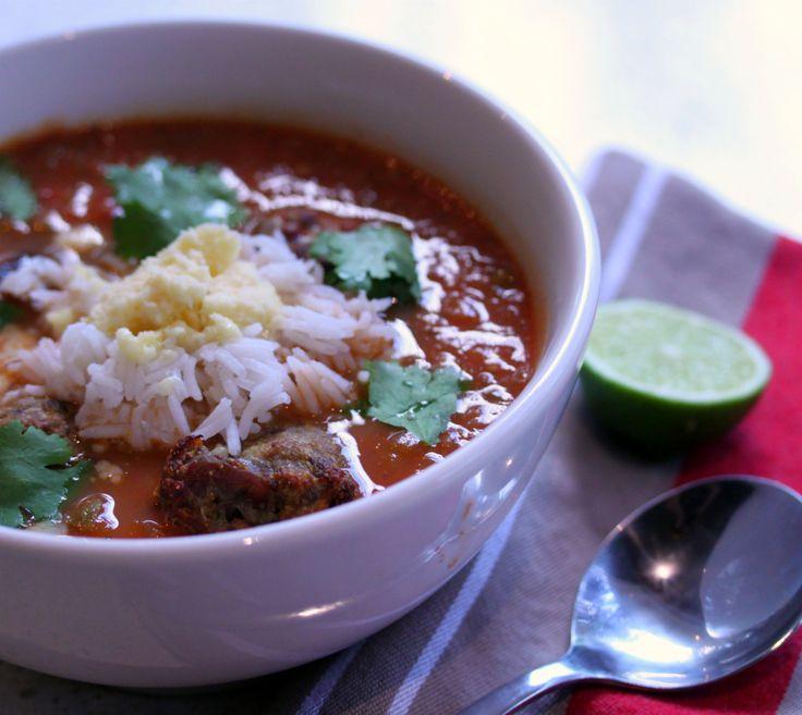 Mexican Meatball Soup | Soup | Pinterest
