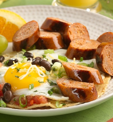Huevos Rancheros with Chipotle Chorizo Chicken Sausage Serves 4 Prep ...