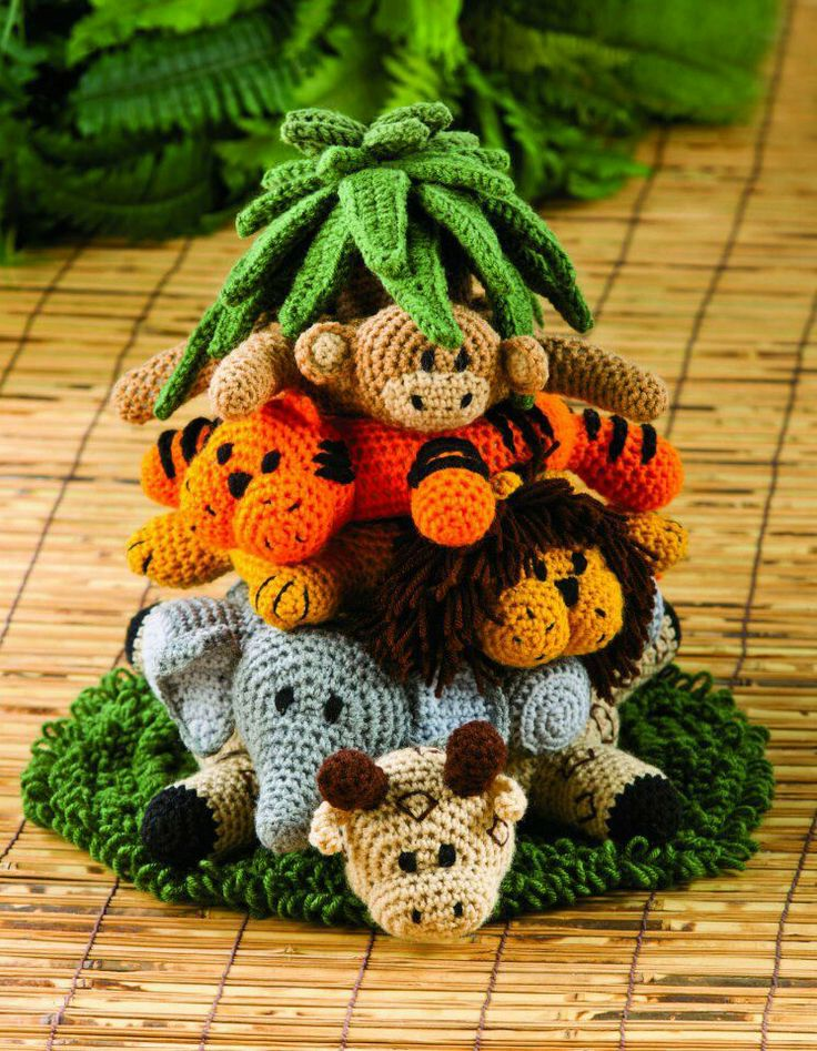 Crochet Patterns Jungle Animals : Jungle animals crocheted Knit and crochet Pinterest