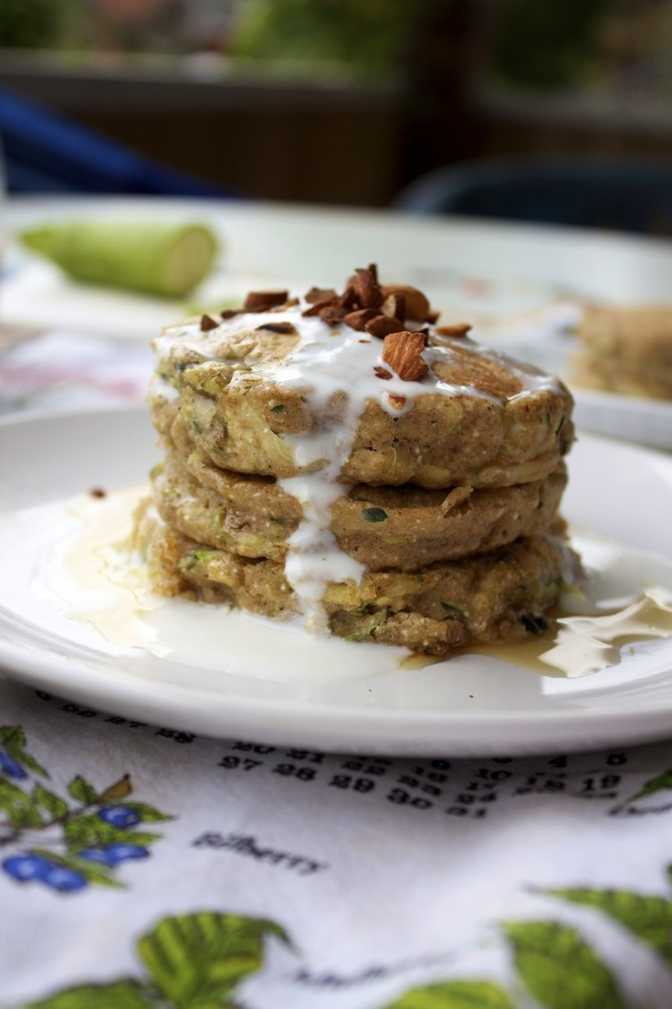 Zucchini bread pancakes (vegan) | breakfast | Pinterest