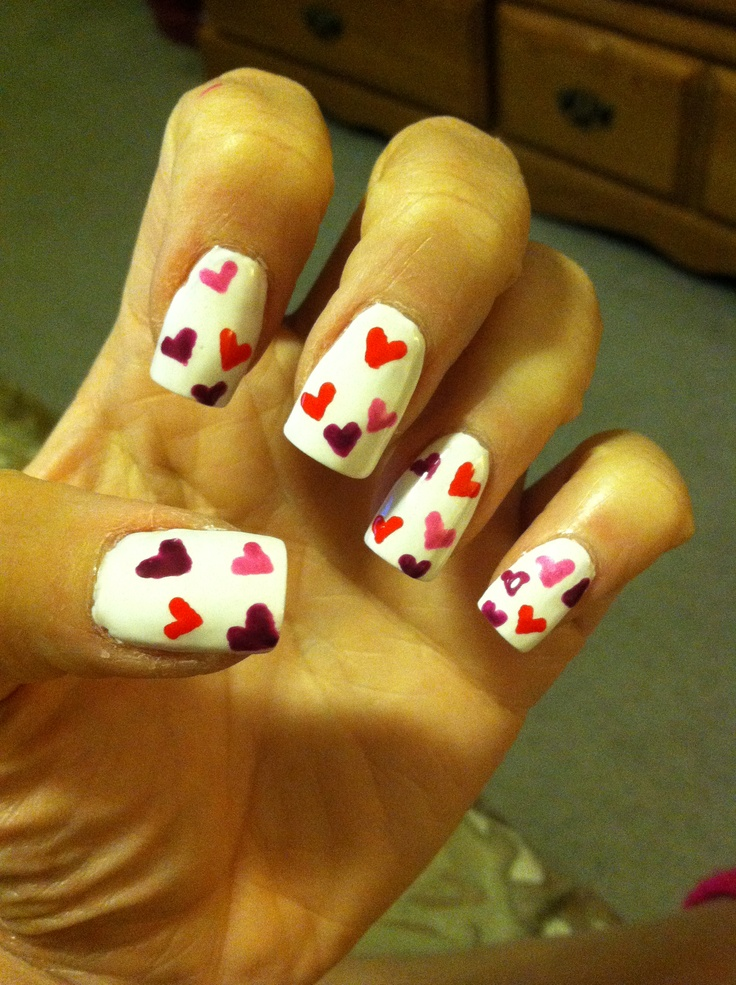 valentine day nail designs 2014