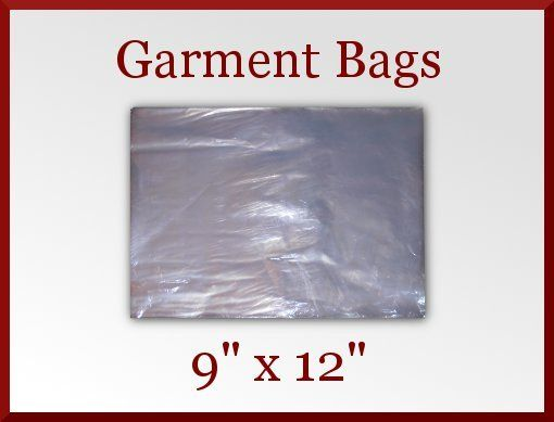 50 clear poly garment bags 9 x 12 t shirt plastic bag with for Clear plastic dress shirt bags