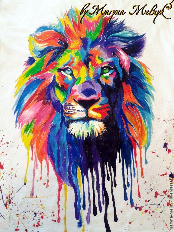 Рисунок цветной лев