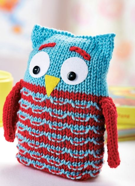 Free pattern for this Owl Toy Free Knitting Patterns Pinterest