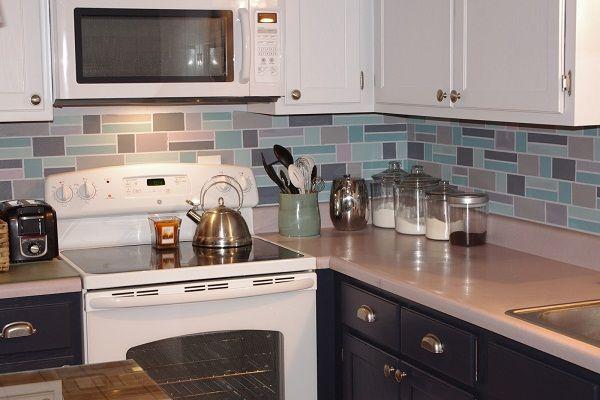 painted backsplash kitchen ideas kitchens pinterest