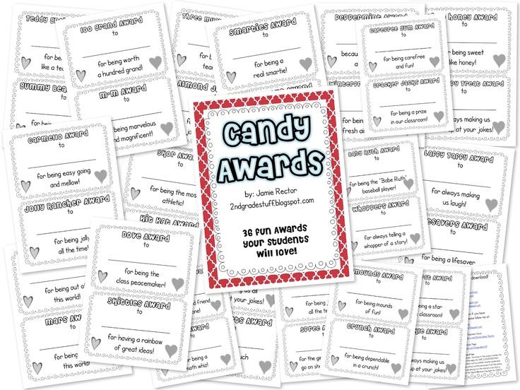Candy Awards   classroom ideas   Pinterest