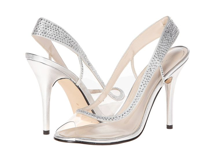 silver high heel shoes for wedding