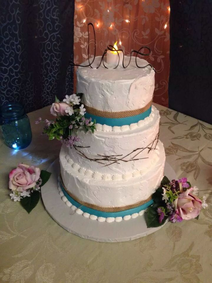 Rustic Hippie Wedding Cake