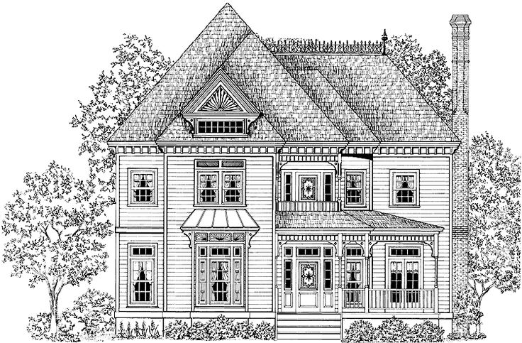 Eplans Queen Anne House Plan Outside Pinterest