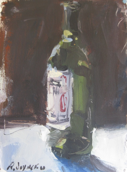 Acrylic wine bottle painting art pinterest for Painting of a wine bottle
