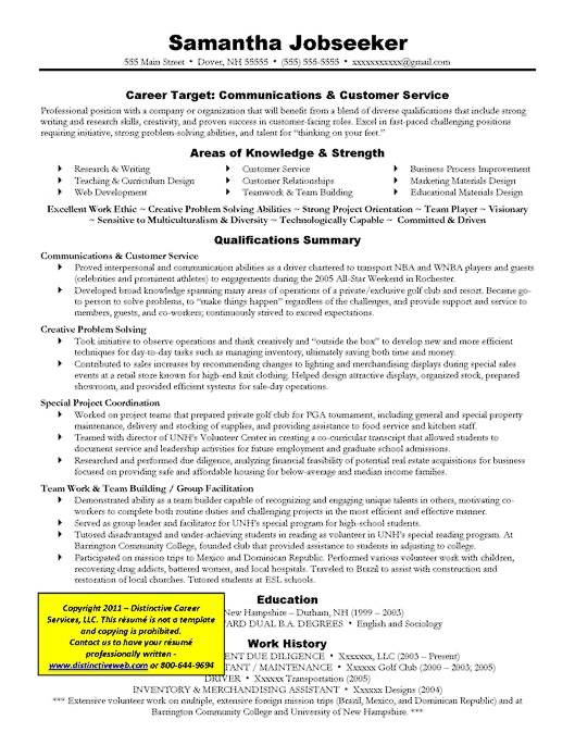 Targeted Resume Communications Resumes Coverletters