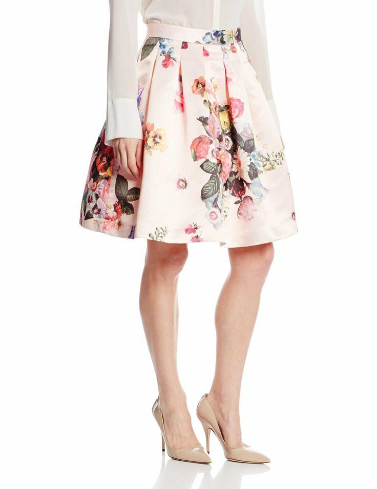 high waisted floral print skirt makeup savvy