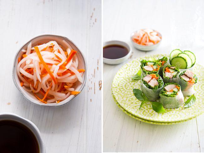 Vietnamese Garlic Chicken Spring Rolls Recipe- Summer Rolls