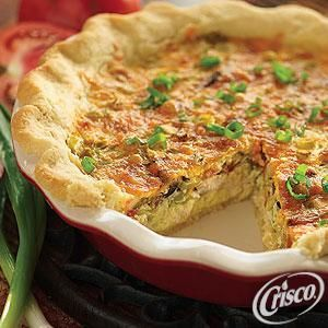 Mexicali Quiche from Crisco® | Breakfast - Brunch | Pinterest