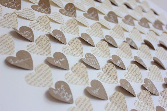 Wedding guest book alternative 3d heart rustic guest - Decoration halloween fait maison ...
