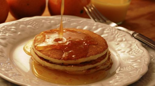 Orange Ricotta Pancakes   Food   Pinterest