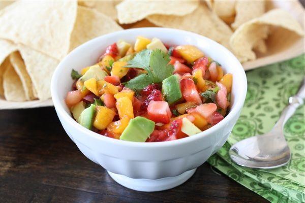Strawberry Mango Salsa (Paleo/Whole30, omit jalapeño for AIP)