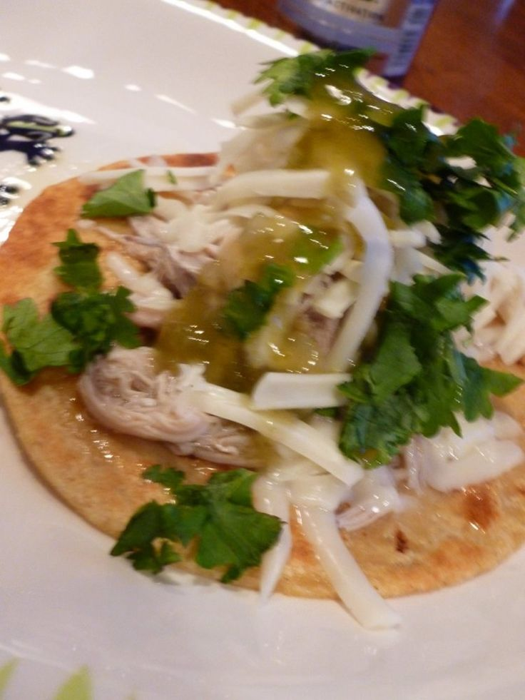 Shredded Chicken Tacos | Cindi can eat this ;) | Pinterest