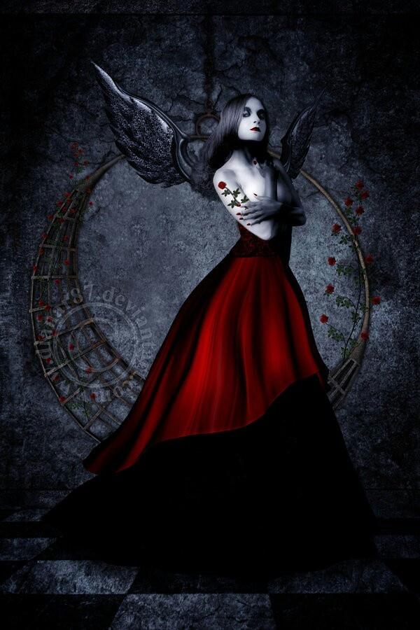 Gothic angel love