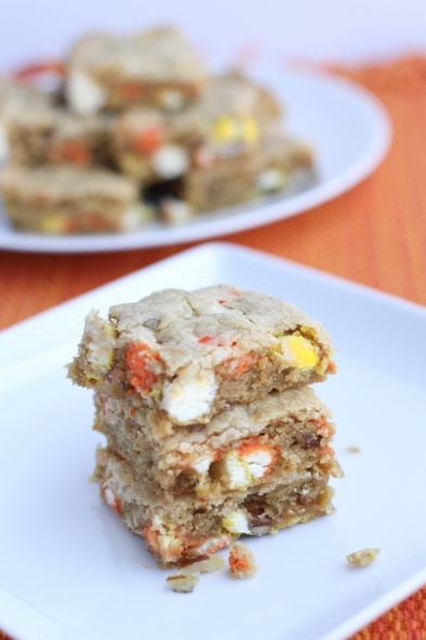wow m amp m white chocolate candy corn blondies from julie the little ...