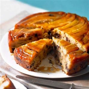 Banana Upside Down Cake With Chocolate Chips Recipes — Dishmaps