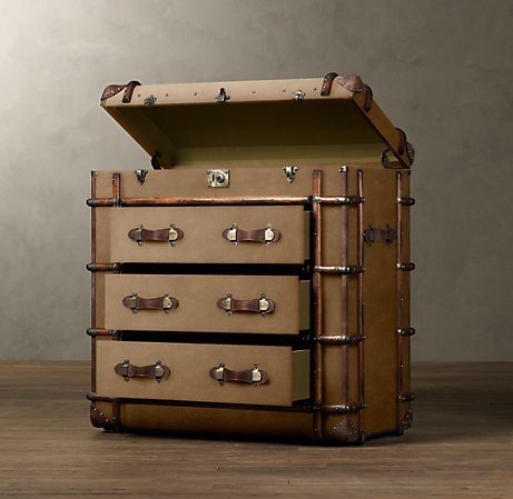 a trunk style chest of drawers pack it up