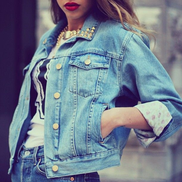 Studded Denim Jacket. Dareen Hakim Collection | Chic. Bold. Unexpected.| www.dareenhakim.com