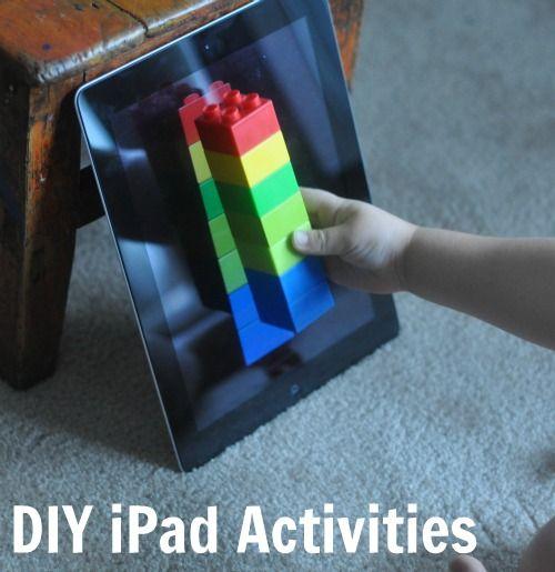 DIY ipad activities: patterning, block building and iSpy