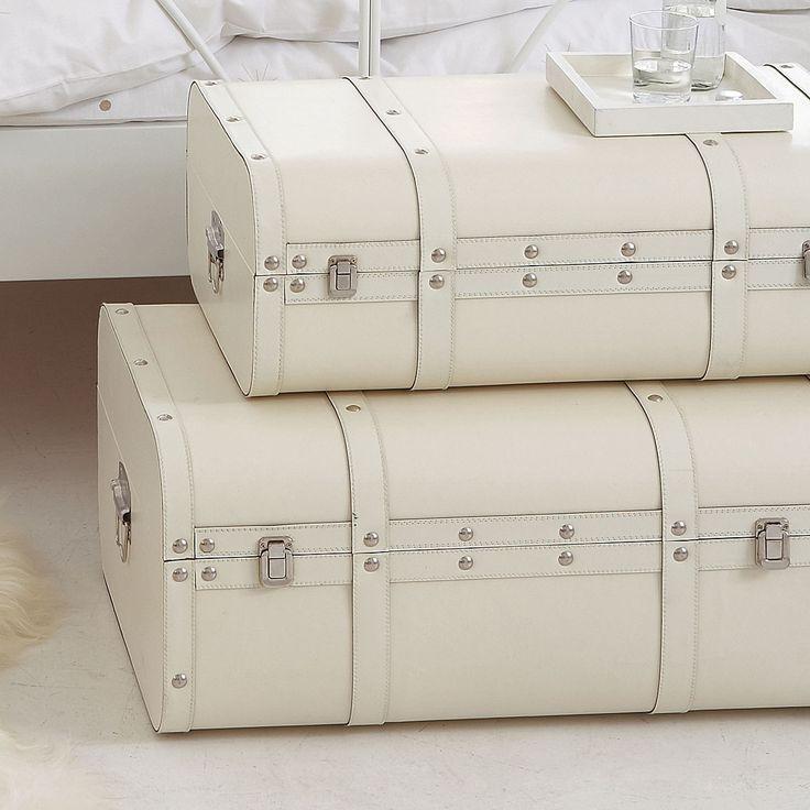 Vintage White Trunks For Storage Colour Black White & White Trunk Storage - Listitdallas