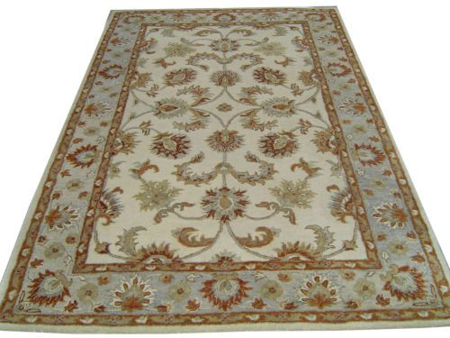 Indian Hand Tufted 5×8 Persian Oriental Wool Carpet Rug