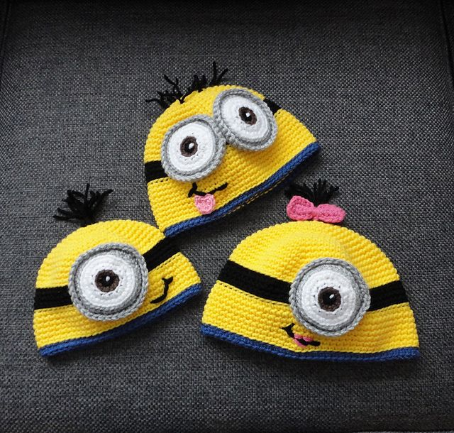 Crochet Minion Beanie Hat Pattern : FREE Minion Hat pattern Crochet - Hats - Minions Pinterest