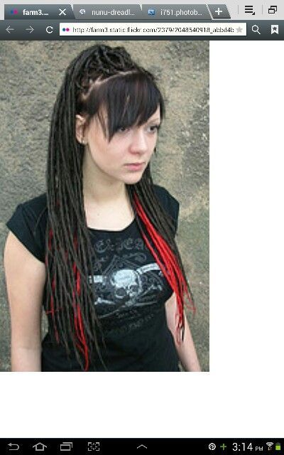 Dreads with bangs | Hair cut and color ideas | Pinterest
