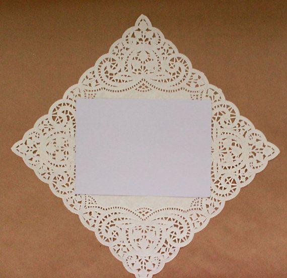 square paper doilies