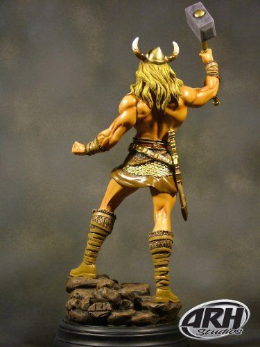 Thor - The God of Thunder - 1:8 Scale Statue by ARH Studios. $349.00. Fully painted & ready to display. 500 piece limited eddition. Full color collector edition packaging. 16 inches tall. Sculpted by Arahom Radjah. High quality resin statue, approx. 40 cm tall.Edition size: 500 worldwideSculpted by: Arahom Radjah