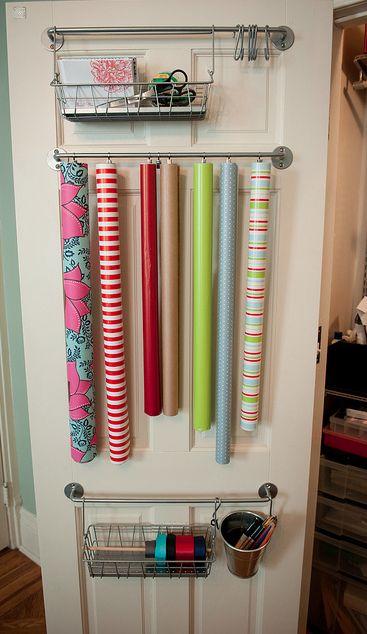 wrapping paper storage crafts pinterest. Black Bedroom Furniture Sets. Home Design Ideas