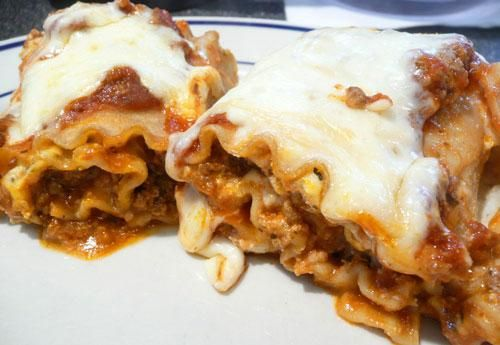 Lasagna Rollups Recipe - Used hot johnsonville ground sausage and ...