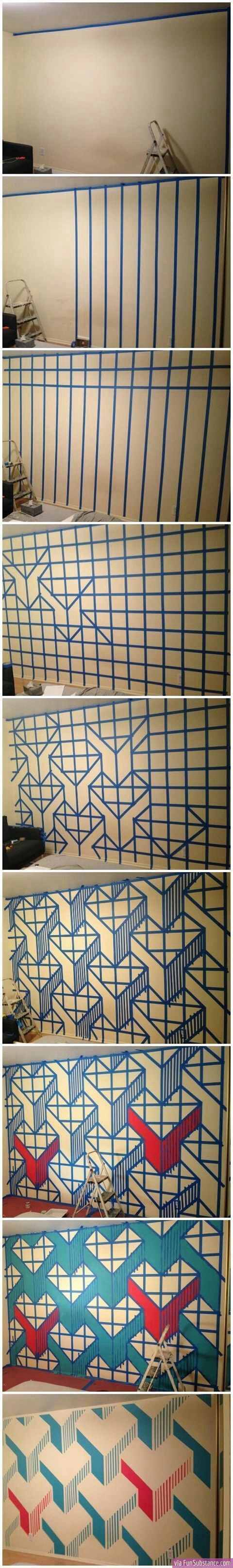 Wall Painting Designs With Tape : Wall tape paint designs graphic
