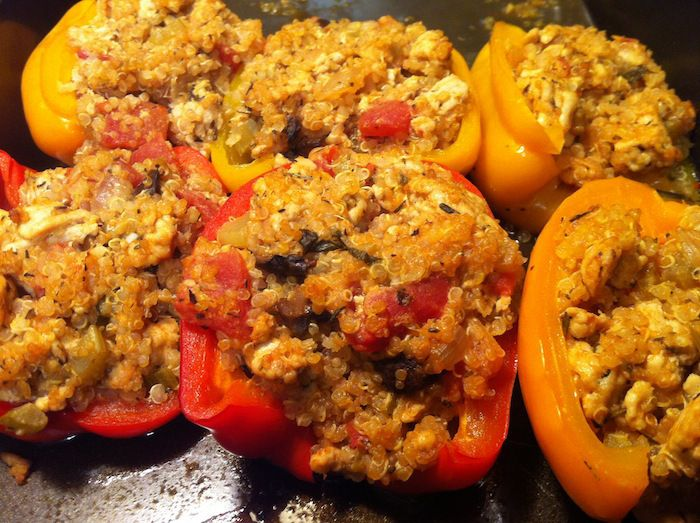 Savory Turkey Stuffed Peppers | Recipes | Pinterest