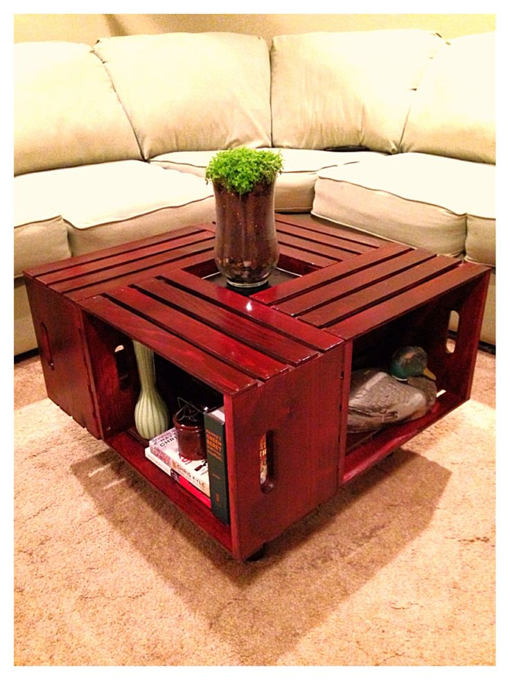 Diy Crate Coffee Table Pinterest Crafts