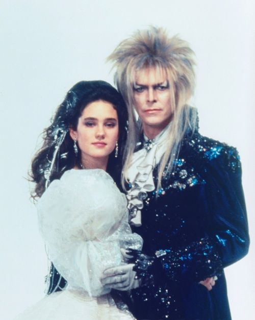 Jennifer Connelly & David Bowie   my faves   Pinterest Labyrinth Movie Sarah Dress