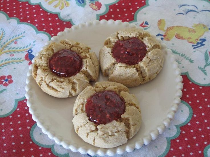 Peanut Butter and Jelly Thumbprints - HippieDog's Favorite Recipes