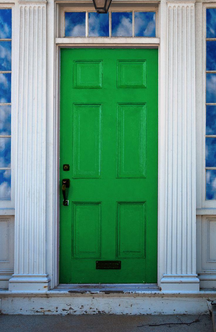 Green Front Door Endearing With More green | Front Door | Pinterest Image
