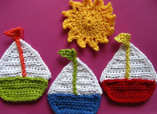 SAILBOAT & SUN: Crochet Pattern CRAFT- Crochet & Knit (For when I l...
